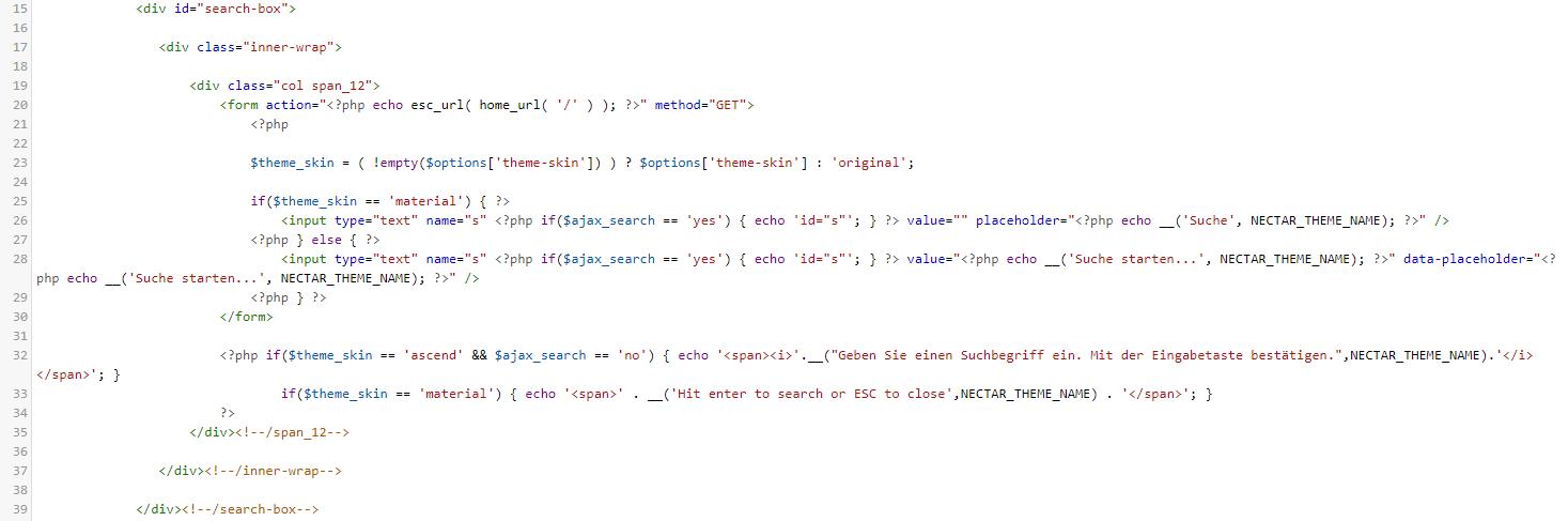 Code-Beispiel zum übersetzen eines WordPress Themes