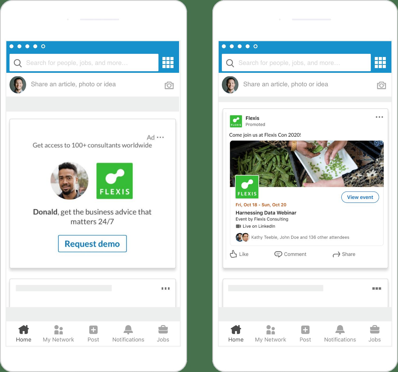 Beispiel Spotlight Ad von LinkedIn